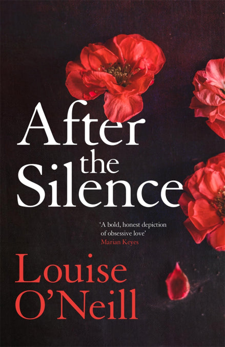 A black cover with scattered red flowers. The title is in the centre in white, with the author in red underneath.