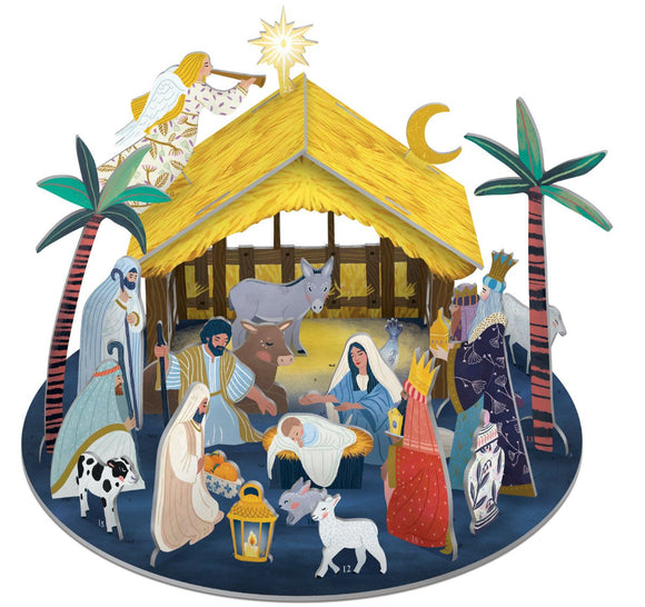 Away in a Manger Pop & Slot Advent Calendar