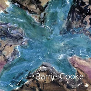 An abstract painting with a large blue star shape taking up most of the cover. The artist name is in the bottom left in thin, white letters.