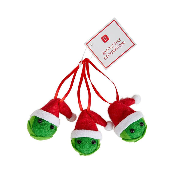 3pk Felt Sprout Decoration