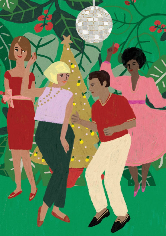 Festive Party People Christmas Card
