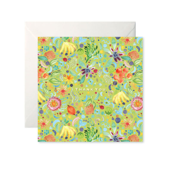 Fruity Floral Thank You Card