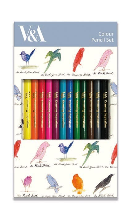 Lear Birds Colour Pencil Set