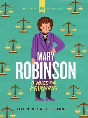 A green background with a pattern of the weighing scales associated with law. A flat illustration of a woman in a purple suit stands in the centre. The title is in large white, capital letters in the centre.