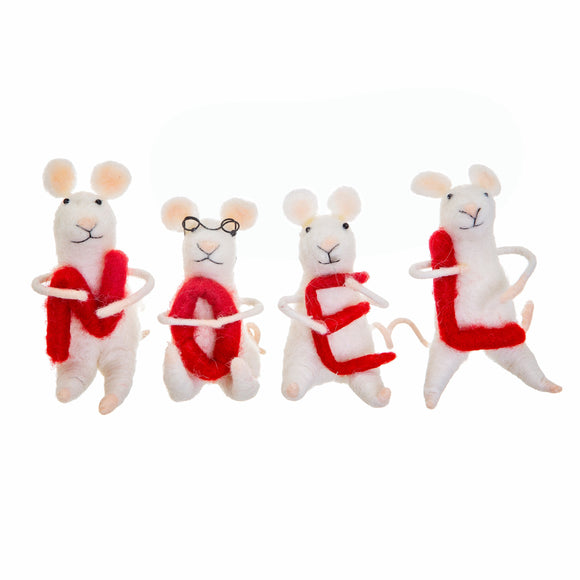 Noel Mice Standing Felt Decoration