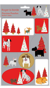 Precious Pooches Sticker Labels Sheet