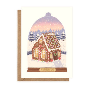 Season's Greetings – Gingerbread Cottage Card