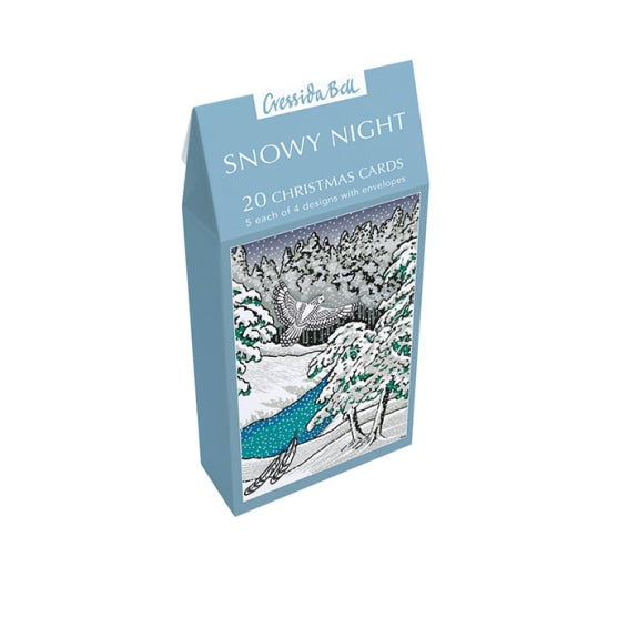 Snowy Night Christmas Cards
