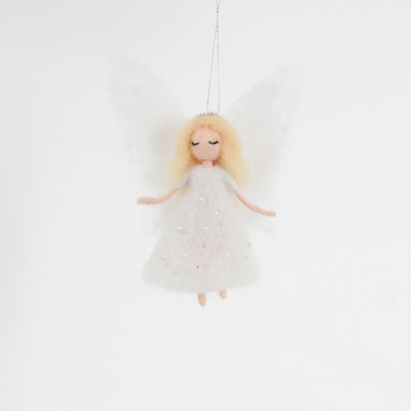 Sparkling Angel Hanging Felt Decoration