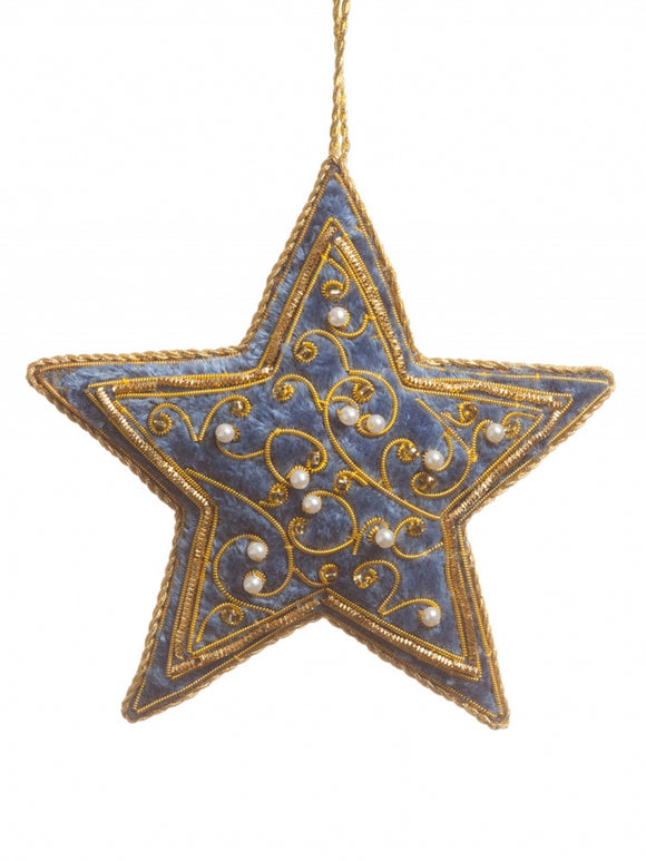 Steel Blue Star Decoration