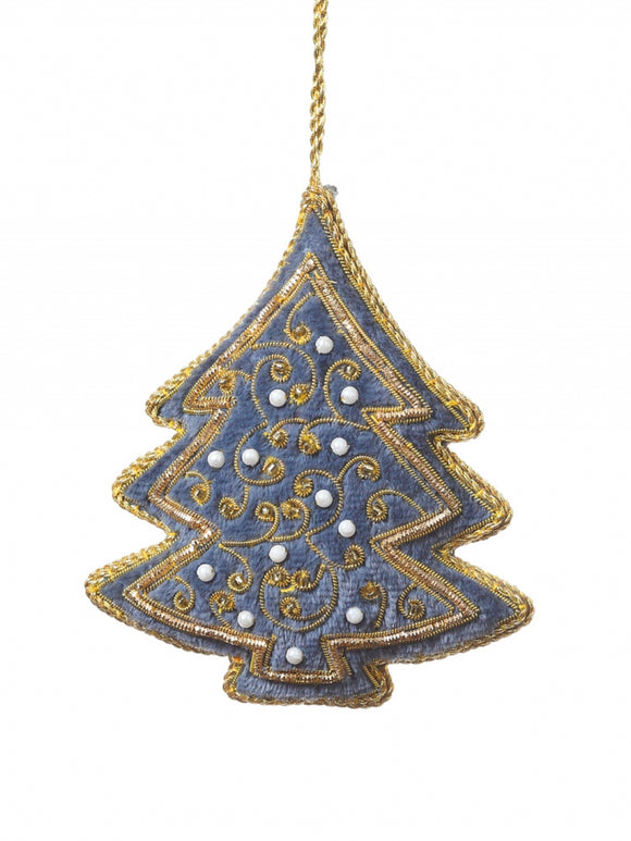 Steel Blue Tree Decoration