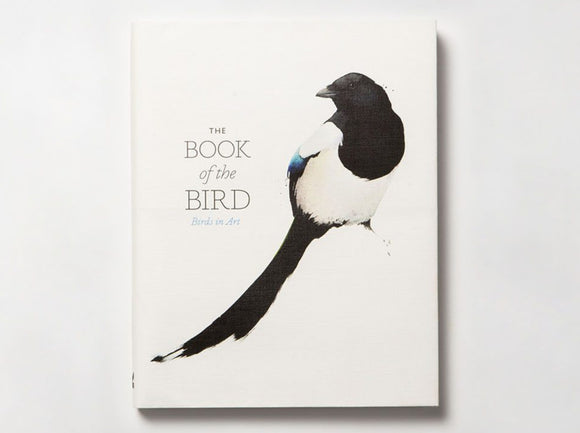 A white background with an illustration of a magpie with a long tail. The title is to the centre left beside the bird in the thin black letters.