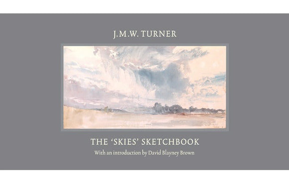 A mainly grey cover with a light watercolour of a sky in the centre. Above and below the painting is the book title and author.