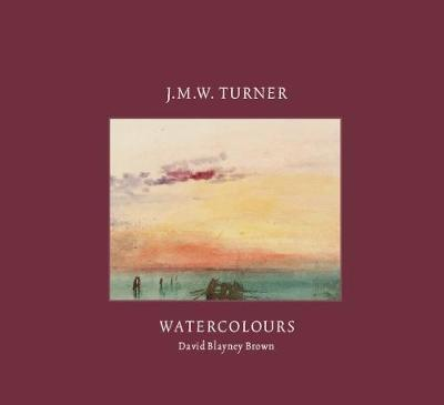 A mainly dark red cover with a watercolour of a sunset over the water in the centre. Above and below the painting is the book title and author.