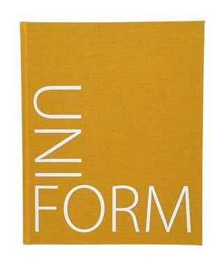 A mustard yellow cover with the word UNIFORM in white, creating an angle along the left and bottom.