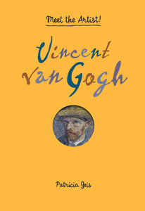 A yellow cover with a small circular portrait of van Gogh in the centre. Above is the title in red and blues.