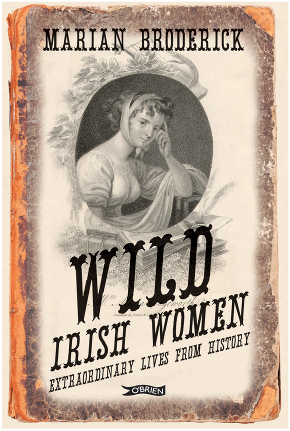 A sepia toned cover with an aged look. At the top is an old fashioned, black and white drawn portrait of a woman with her cheek in her hand. The title is across the bottom in stylised black letters.
