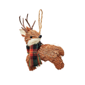 Woodland Deer Brush Hanging Decoration