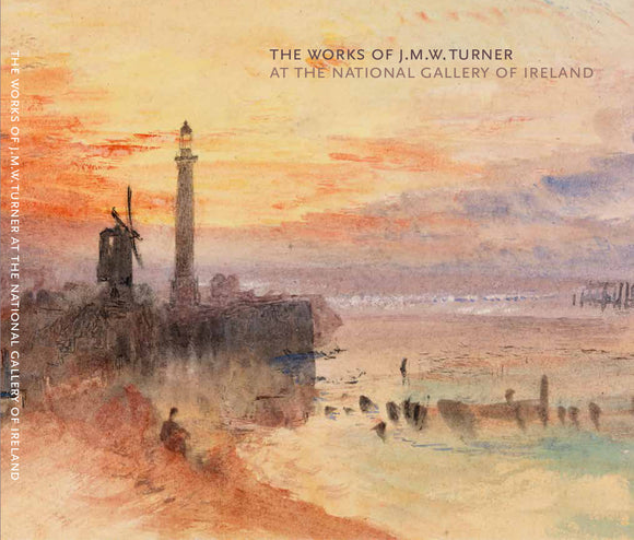 A vibrant watercolour of a beachside scene at sunset. A lighthouse and windmill are silhouetted in black against an orange and purple sky. The title of the book is in small letters in the top right corner.