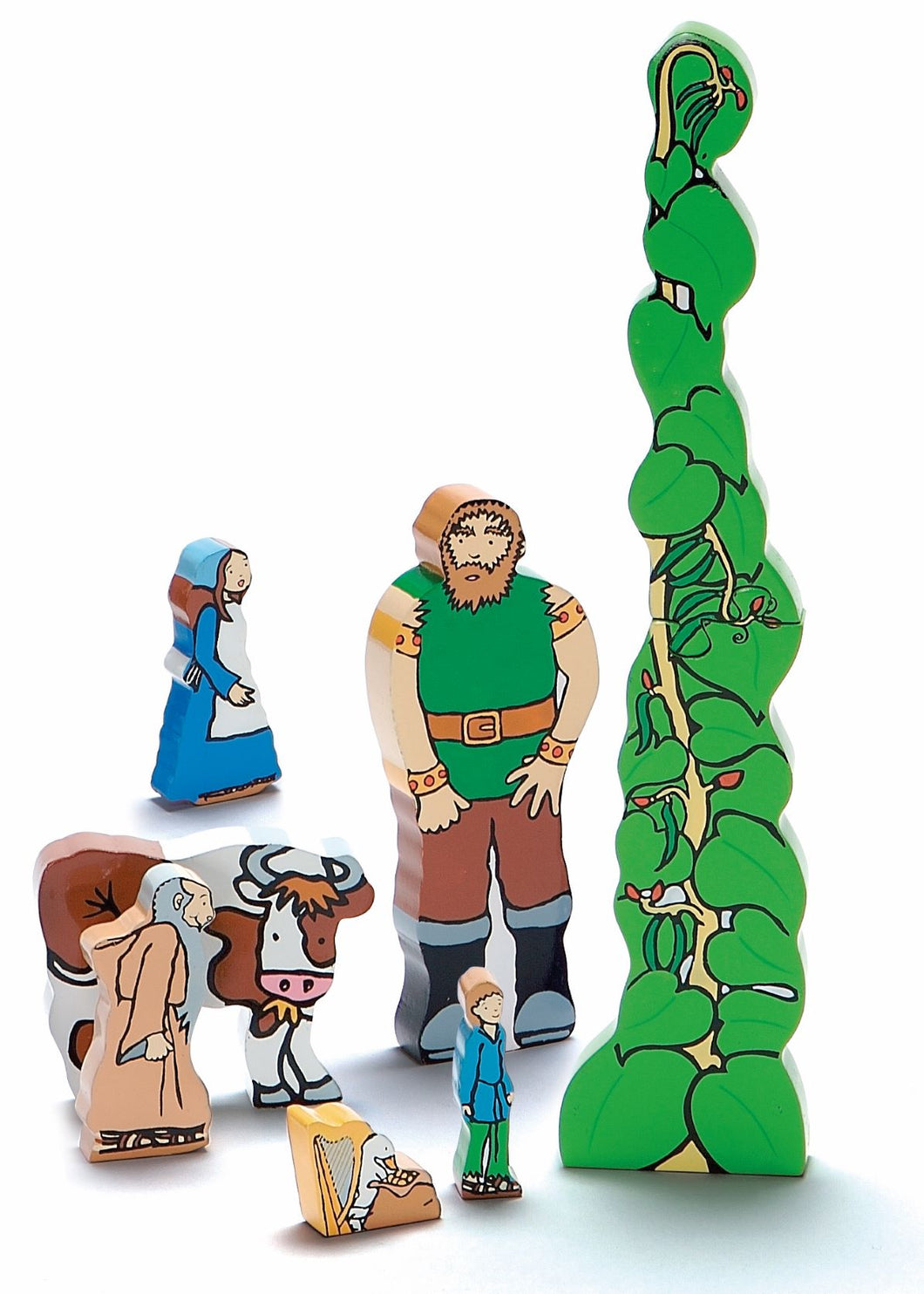 Jack and the Beanstalk Wooden Characters