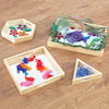 Load image into Gallery viewer, Wooden Mirror Trays 4pk