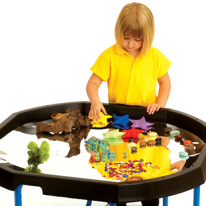Black octagonal plastic active world discovery tray. Mirror and accessory sold seperately.