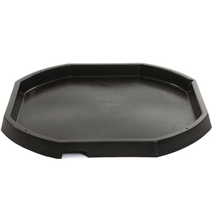 Black octagonal plastic active world discovery tray.
