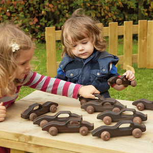 Outdoor Wooden Racing Cars 10pk