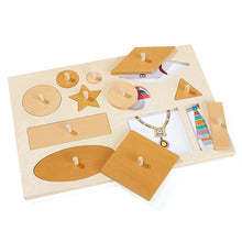 Load image into Gallery viewer, Wooden Giant Explorer Peg Puzzle Bo