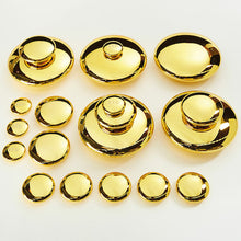 Load image into Gallery viewer, Mirrored Stacking Pebbles Gold 20pk