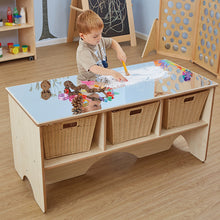 Load image into Gallery viewer, Toddler Mirror Activity Table With Shelves