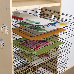 Easy Access Wooden Drying Rack and Art Station