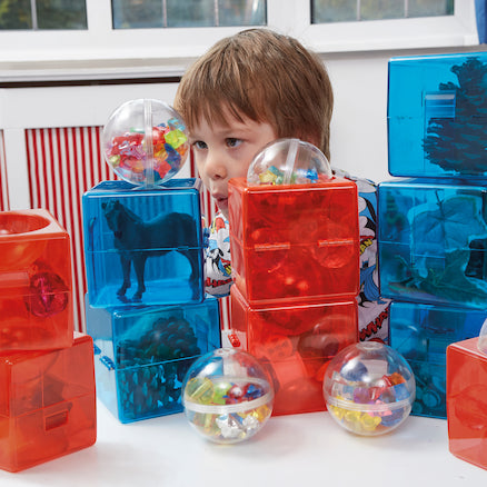 Plastic Open Up Construction Cubes