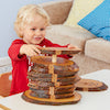 Wooden Rustic Number Stacker 1-10
