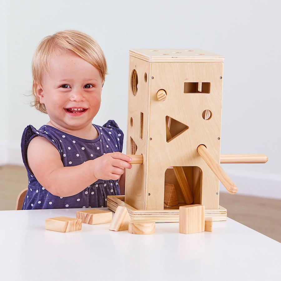 Wooden Posting Activity Tower