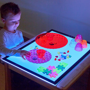Colour Changing Light Panel  2 sizes and Messy Play Covers for Light Panel