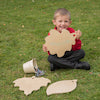 TTS Wooden Leaf Mark Making Boards with Stand