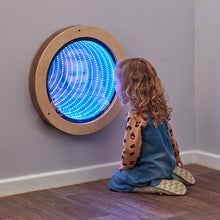 Load image into Gallery viewer, Light Up Circular Infinity Mirror