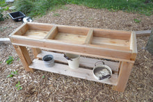 Load image into Gallery viewer, 3 Bin Outdoor Sensory Table