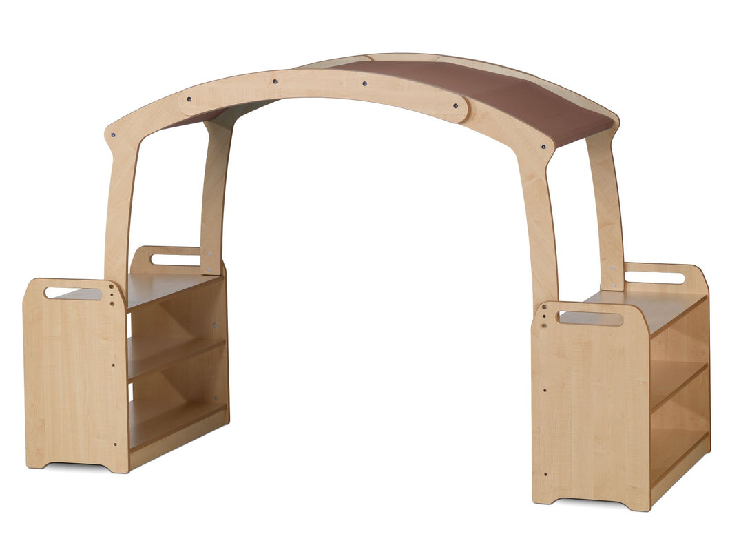 PlayScapes Tall Den Cave Set - Taupe Roof