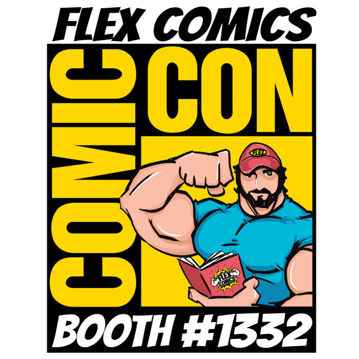 Flex Comics at the San Diego Comic-Con 50th Anniversary!
