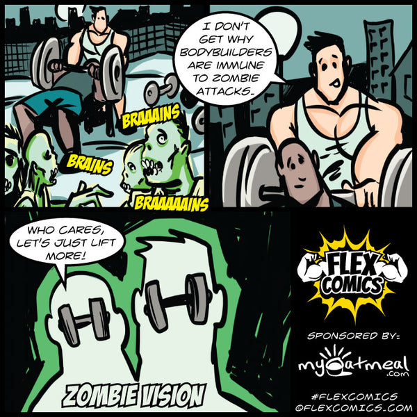 Bodybuilders Immune to Zombie Attacks by Flex Comics