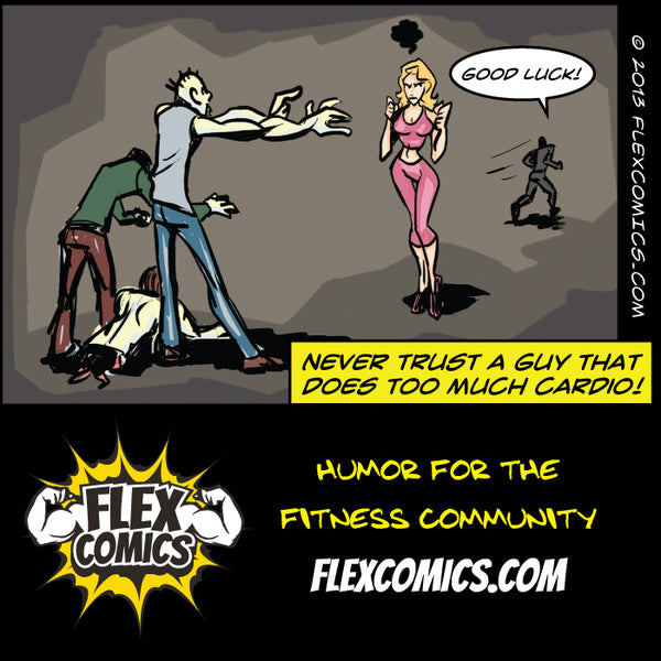 Beware of the cardio guy by flex comics