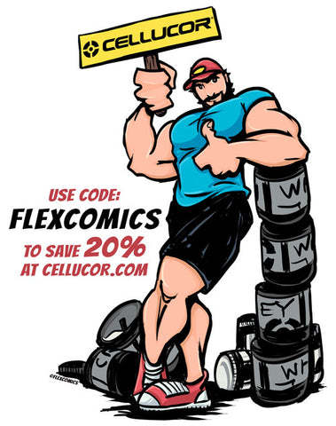 Cellucor 20% off coupon code FLEXCOMICS