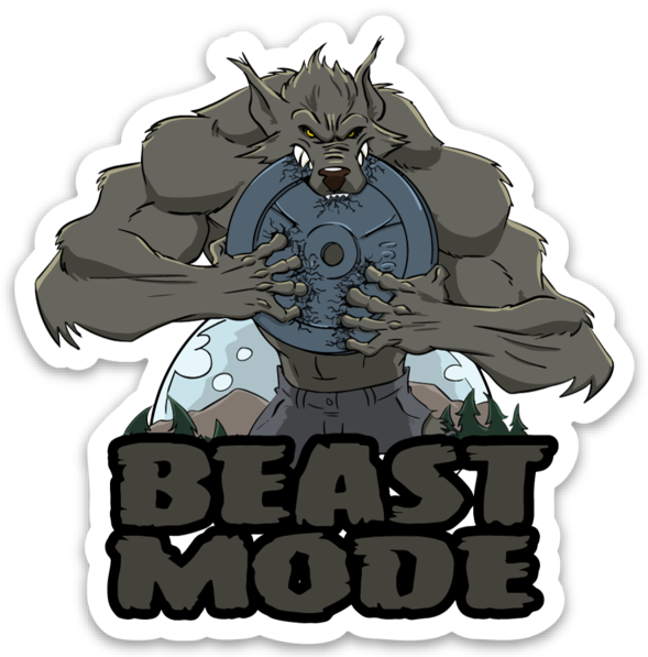 Beast Mode Werewolf - Vinyl Sticker