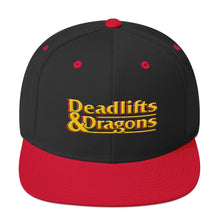 Load image into Gallery viewer, Deadlifts & Dragons - Classic Snapback Hat
