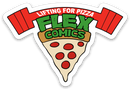 Lifting For Pizza - Vinyl Sticker