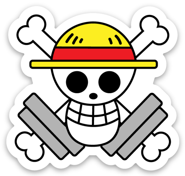 Happy Skull - Vinyl Sticker