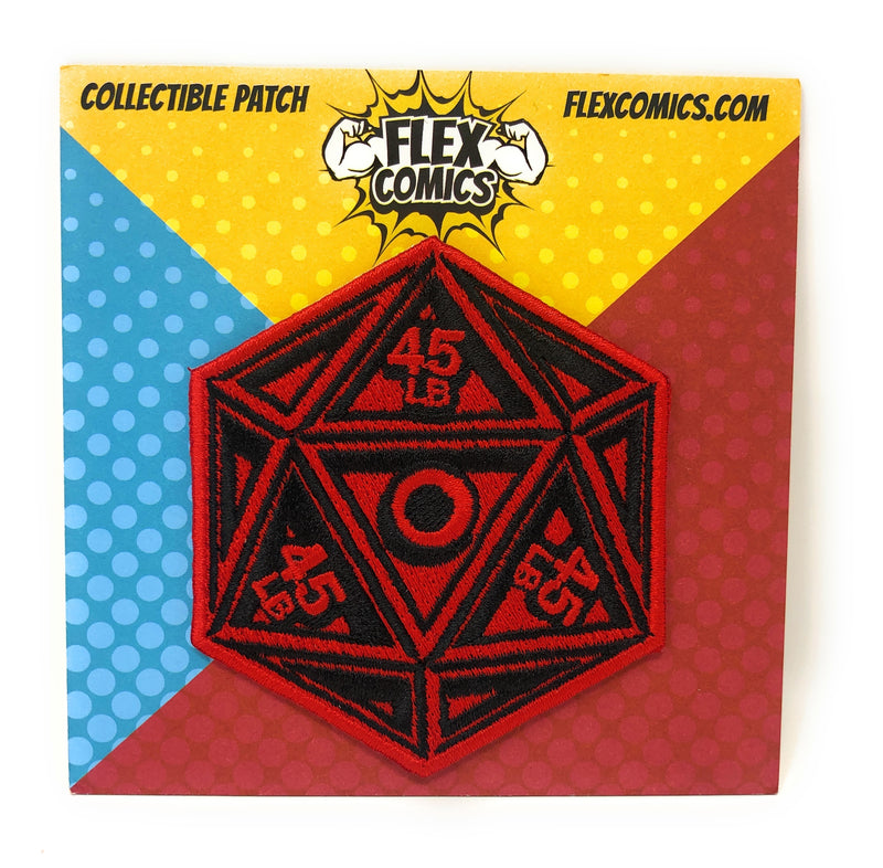 Flex Comics Logo Dice RED - Patch