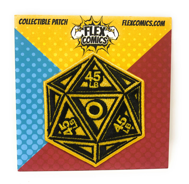 Flex Comics Logo Dice YELLOW - Patch